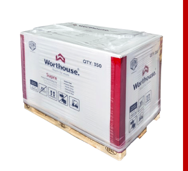 package of Supre metal roofing tiles by Worthouse